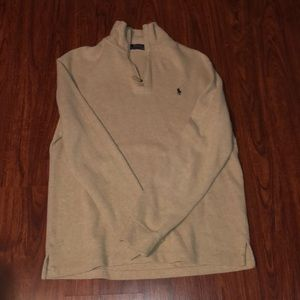 Tan Polo Ralph Lauren Quarter zip